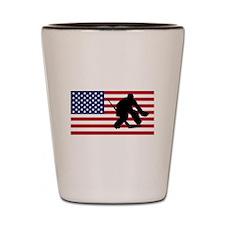Hockey Goalie American Flag Shot Glass