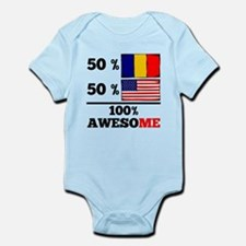 Half Romanian Half American Body Suit