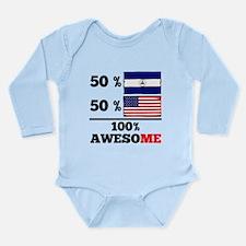 Half Nicaraguan Half American Body Suit