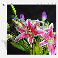 Stargazer Lily Bouquet Shower Curtain