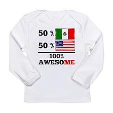 Half Mexican Half American Long Sleeve T-Shirt
