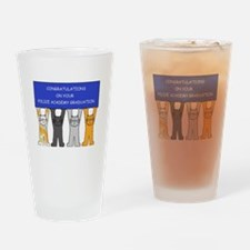 Congratulations on your police acad Drinking Glass