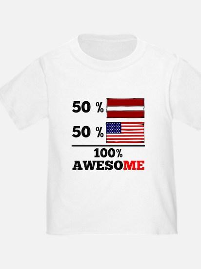 Half Latvian Half American T-Shirt
