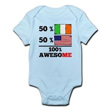 Half Irish Half American Body Suit