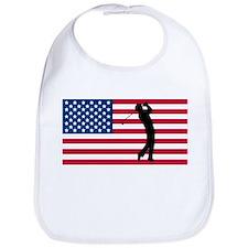 Golfer American Flag Bib