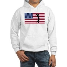 Golfer American Flag Hoodie