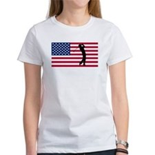 Golfer American Flag T-Shirt