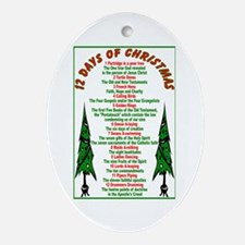 12 Days of Christmas Oval Ornament