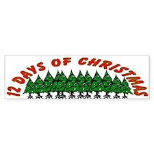 12 Days of Christmas Bumper Bumper Sticker