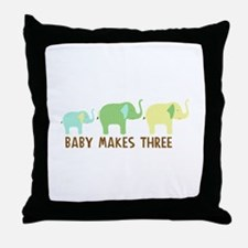 Baby makes three Throw Pillow