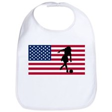 Woman Bowler American Flag Bib