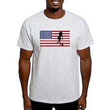 Woman Bowler American Flag T-Shirt