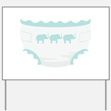 Baby Diaper Elephants Yard Sign