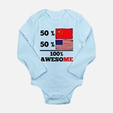 Half Chinese Half American Body Suit