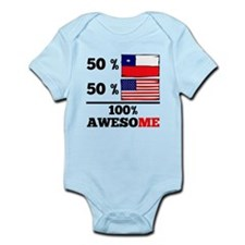 Half Chilean Half American Body Suit
