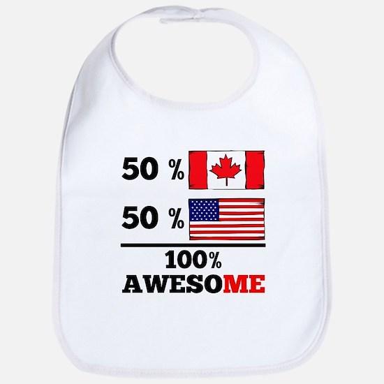 Half Canadian Half American Bib