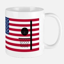 Basketball Hoop American Flag Mugs