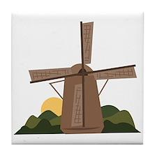 Dutch Windmill Tile Coaster