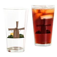 Dutch Windmill Drinking Glass