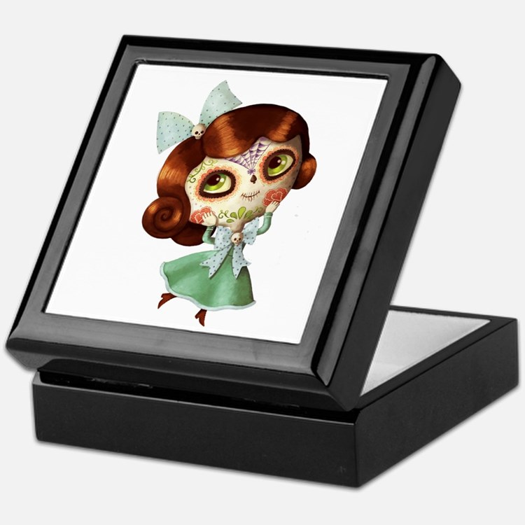 The Day of The Dead Vintage Doll Keepsake Box