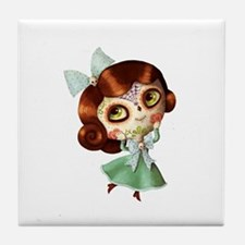 The Day of The Dead Vintage Doll Tile Coaster