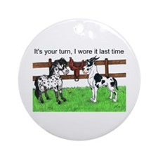 C H Your Turn Ornament (Round)