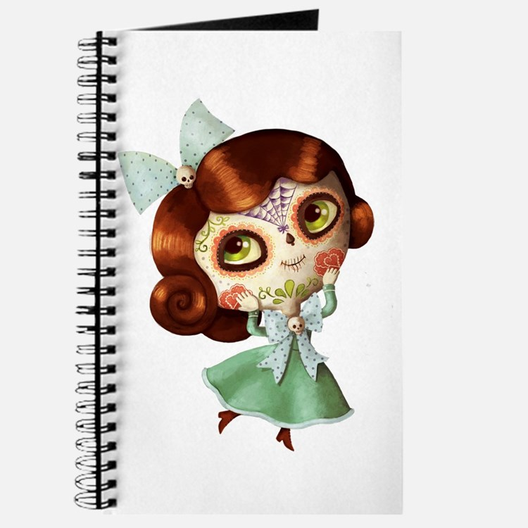 The Day of The Dead Vintage Doll Journal