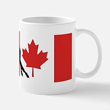 Speed Skater Canadian Flag Mugs