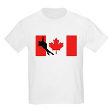 Speed Skater Canadian Flag T-Shirt