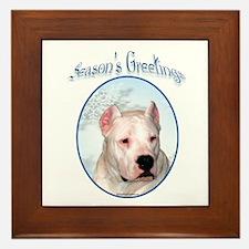 Dogo Season's Framed Tile