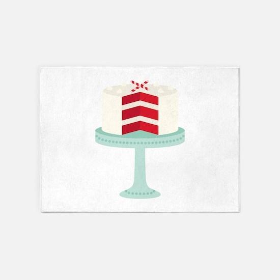 Red Velvet Cake 5'x7'Area Rug