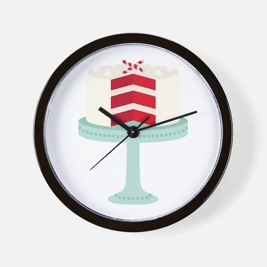 Red Velvet Cake Wall Clock