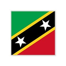 "St Kitts Nevis Flag Square Sticker 3"" x 3"""