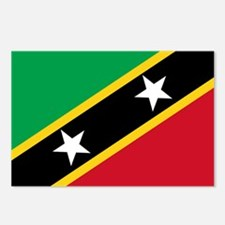 St Kitts Nevis Flag Postcards (Package of 8)