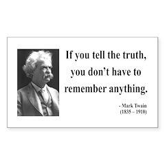 Mark Twain 30 Rectangle Sticker