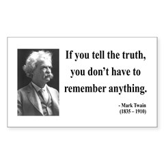 Mark Twain 30 Rectangle Decal