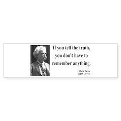 Mark Twain 30 Bumper Bumper Sticker
