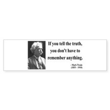 Mark Twain 30 Bumper Bumper Sticker