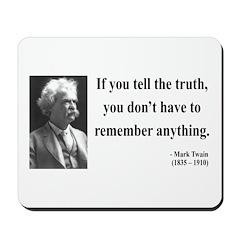 Mark Twain 30 Mousepad