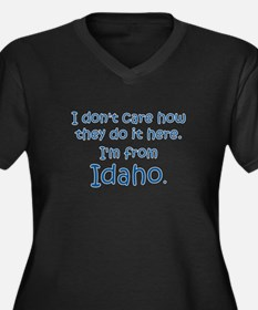 From Idaho Women's Plus Size V-Neck Dark T-Shirt