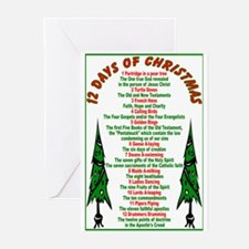 12 Days of Christmas Greeting Cards (Pk of 10)