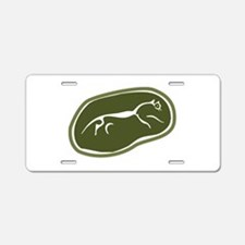 Uffington White Horse Aluminum License Plate