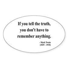 Mark Twain 30 Oval Decal