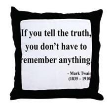 Mark Twain 30 Throw Pillow