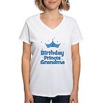 1st Birthday Princes Grandma! Women's V-Neck T-Shi