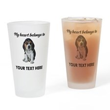 Personalized Beagle Custom Drinking Glass