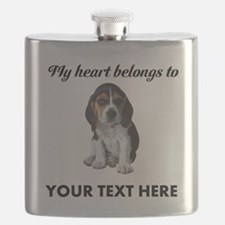 Personalized Beagle Custom Flask