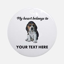 Personalized Beagle Custom Ornament (Round)