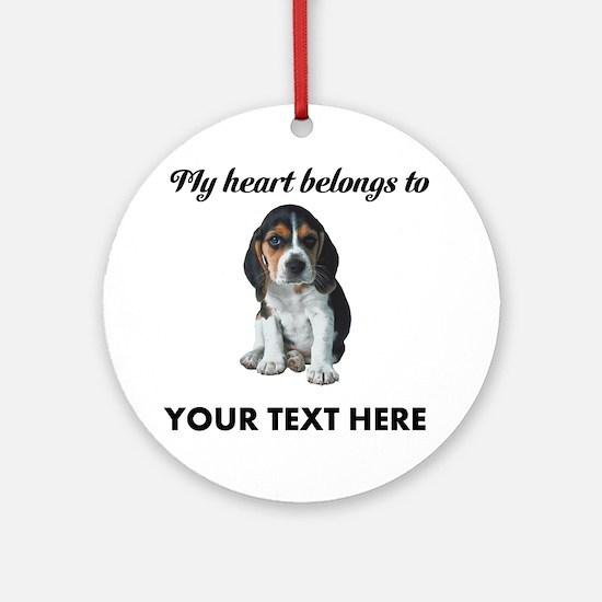 Personalized Beagle Custom Ornament (Round)