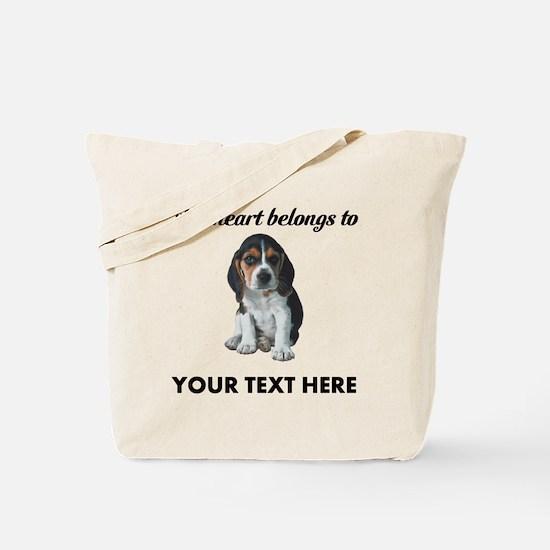 Personalized Beagle Custom Tote Bag